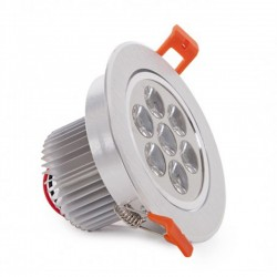 Oferta Foco Downlight Led Circular 7W 700Lm Ø108mm
