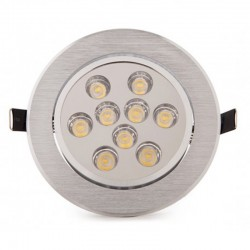 Comprar Foco Downlight Led Circular 9W 900Lm Ø134mm