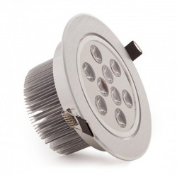 Vender Foco Downlight Led Circular 9W 900Lm Ø134mm