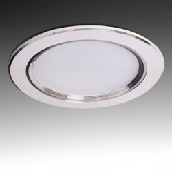 Downlight led Plateado 9W 800Lm Ø145mm