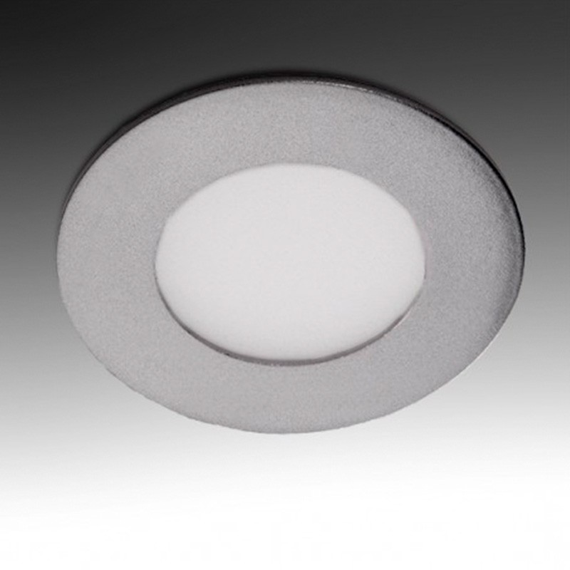 Downlight Circular Plateado 3W 90mm 230Lm