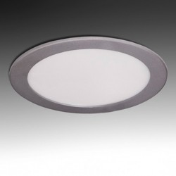 Downlight Circular Plateado 15W 192mm 1170Lm