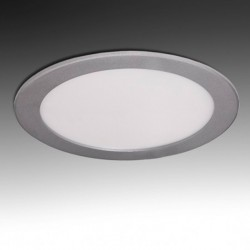 Downlight Circular Plateado 18W 225mm 1350Lm