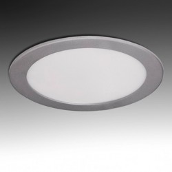 Downlight Circular Plateado 20W 240mm 1860Lm
