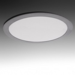 Downlight Circular Plateado 25W 295mm 2000Lm