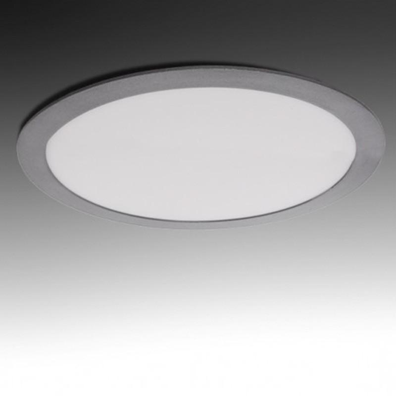 Downlight Circular Plateado 25W 295mm 2000Lm