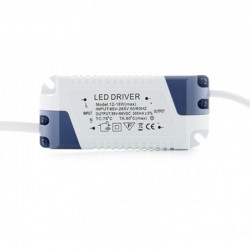 Driver Downlight Cuadrado Plateado 18W 224mm 1350Lm