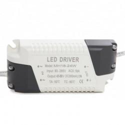 Driver Downlight Cuadrado Plateado 22W 234mm 2000Lm