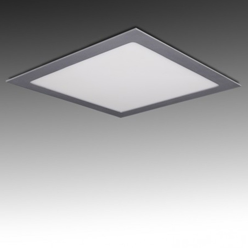 Downlight Cuadrado Plateado 25W 300mm 2180Lm