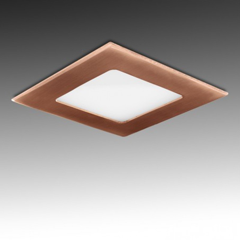 Downlight cuadrado Bronce 6W 120mm 480Lm