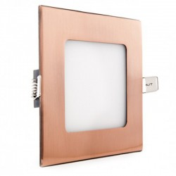 Comprar Downlight cuadrado Bronce 6W 120mm 480Lm