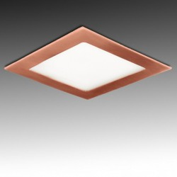 Downlight cuadrado Bronce 12W 170mm 860Lm