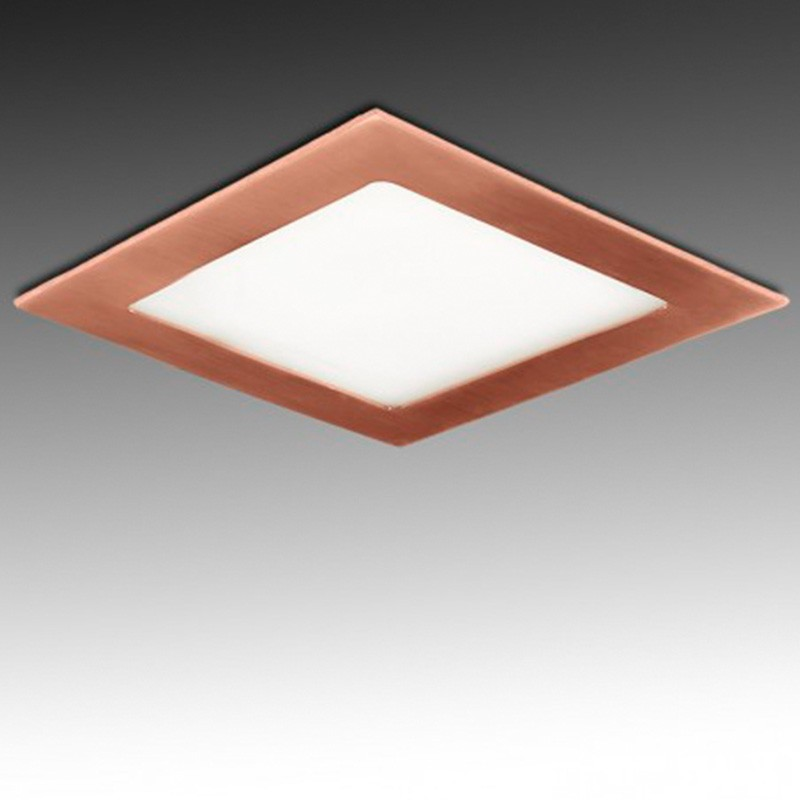 Downlight cuadrado Bronce 18W 225mm 1300Lm