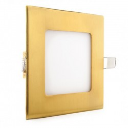 Comprar Downlight cuadrado Dorado 6W 120mm 480Lm