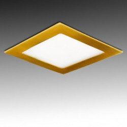 Downlight cuadrado Dorado 12W 170mm 860Lm