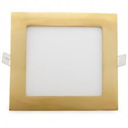 Precios Downlight cuadrado Dorado 12W 170mm 860Lm