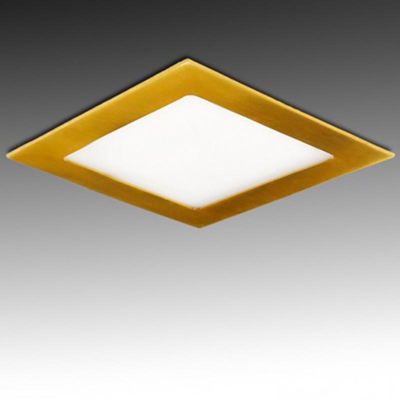 Downlight cuadrado Dorado 18W 225mm 1300Lm