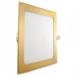 Comprar Downlight cuadrado Dorado 18W 225mm 1300Lm
