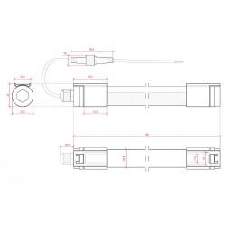 Medidas Tubo led Estanco 600mm IP65 9W