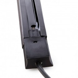 Conector Carril Monofásico + 1 metro Negro