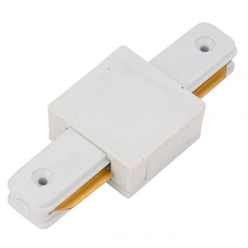 Conector recto Carril Monofásico Blanco