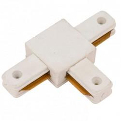 Conector T Carril Monofásico Blanco
