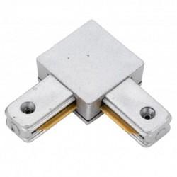 Conector L 90º Carril Monofásico Aluminio
