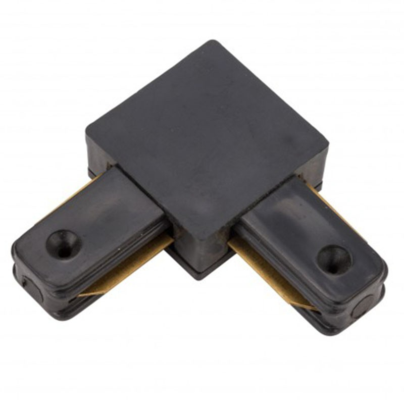 Conector L 90º Carril Monofásico Negro