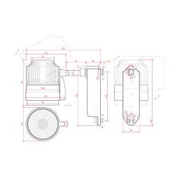 Esquema Foco Carril Led 20W 1800Lm Ø103mm