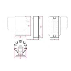 Esquema Foco Carril Led 30W 2600Lm Ø160mm
