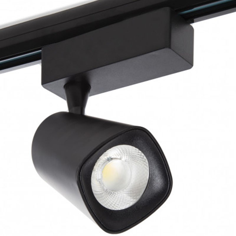Foco Carril Led 30W 2700Lm Ø160mm negro