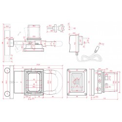 Esquema Foco con Batería IP65 10W Recargable