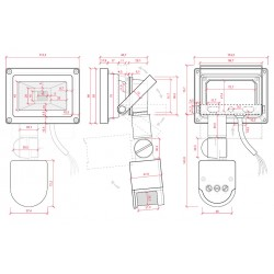 Esquema Foco con sensor de movimiento IP65 10W