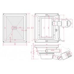 Esquema Foco con sensor de movimiento IP65 30W