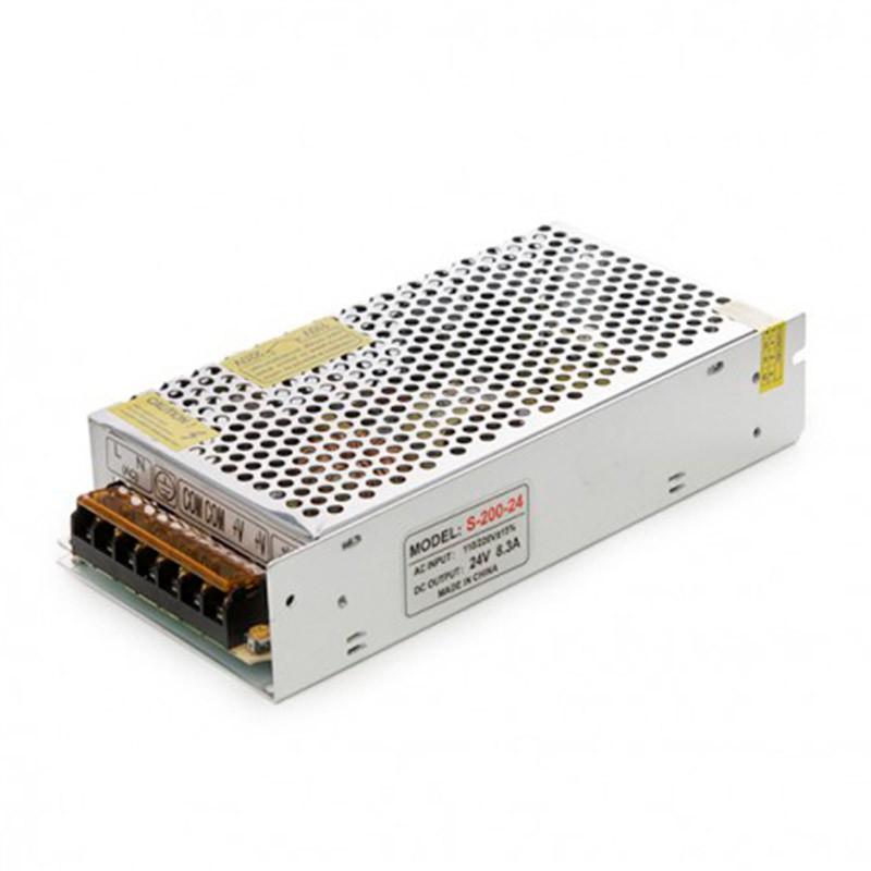 Transformador metálico 24v 200W 6,5A IP25