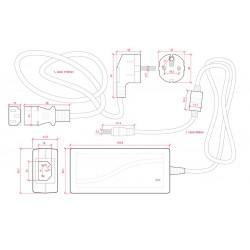 Esquema Transformador plástico 24v 48W 2A