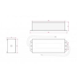 Esquema Transformador exterior 24v 100w IP65