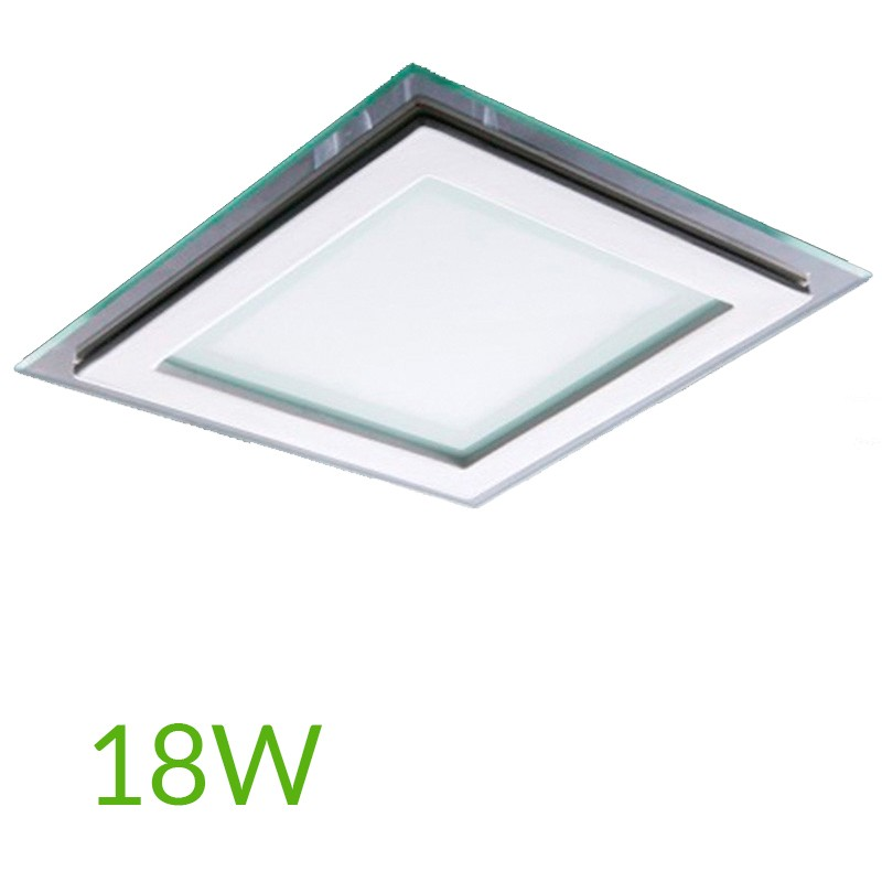 Downlight Cuadrado cristal 18W 200x200mm