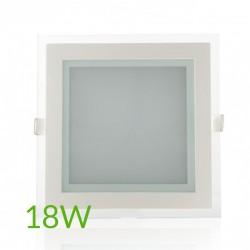 Precio Downlight Cuadrado cristal 18W 200x200mm