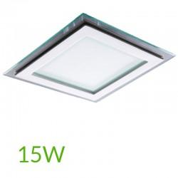 Downlight Cuadrado cristal 15W 200x200mm