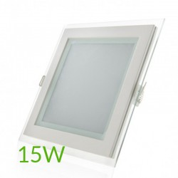 Comprar Downlight Cuadrado cristal 15W 200x200mm