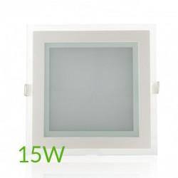 Precio Downlight Cuadrado cristal 15W 200x200mm