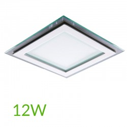 Downlight Cuadrado cristal 12W 160x160mm
