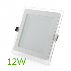 Comprar Downlight Cuadrado cristal 12W 160x160mm