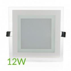 Precios Downlight Cuadrado cristal 12W 160x160mm