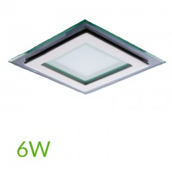 Downlight Cuadrado cristal 6W 95x95mm