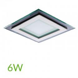 Downlight Cuadrado cristal 6W 95x95mm