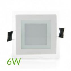 Precios Downlight Cuadrado cristal 6W 95x95mm