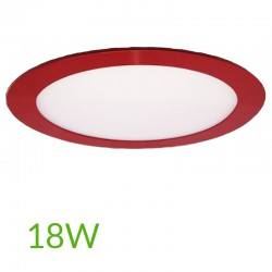 Downlight Circular Rojo 225mm 18W