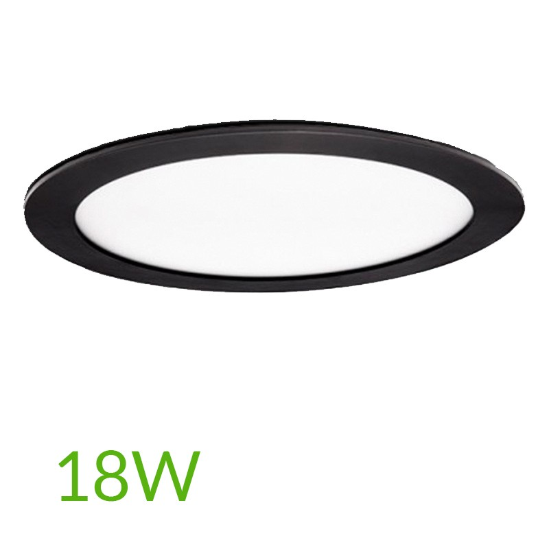 Downlight Circular Negro 225mm 18W